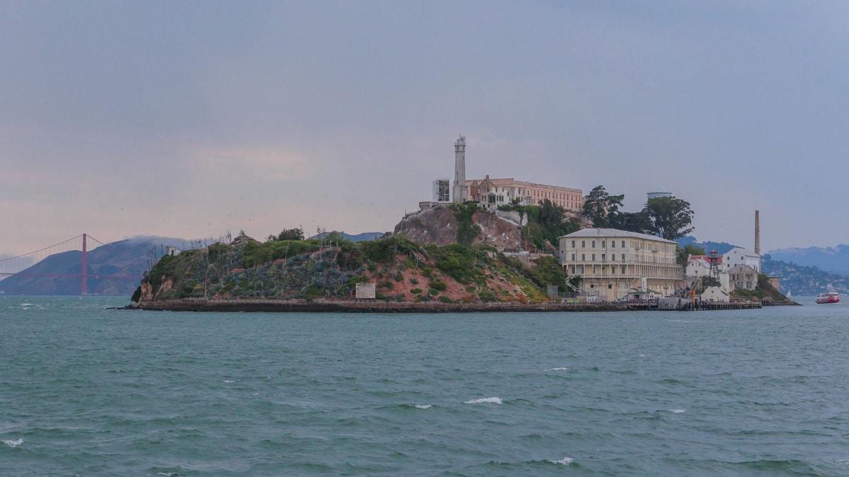 Gevangeniseiland Alcatraz in de baai van San Francisco.